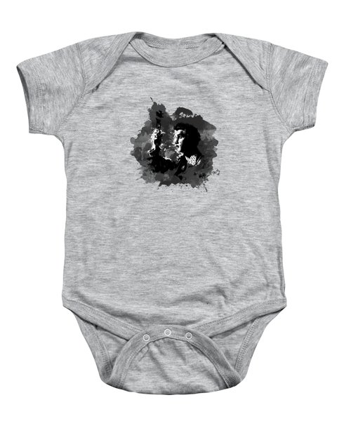Elvis Gray Splash Baby Onesie by Ryan Anderson