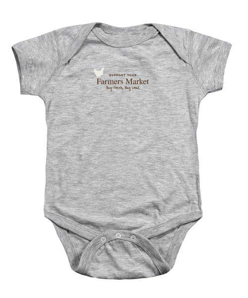 Farmers Market Baby Onesie by Nancy Ingersoll