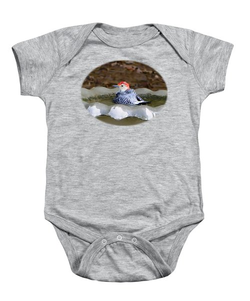 First Bath Baby Onesie by Sue Melvin