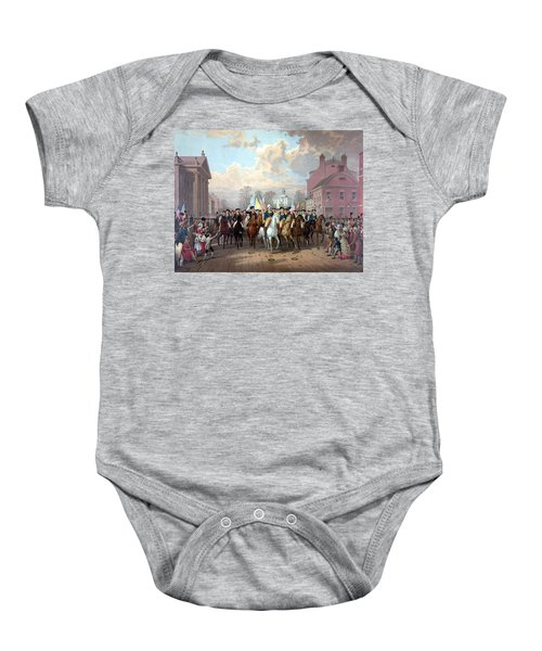 General Washington Enters New York Baby Onesie by War Is Hell Store