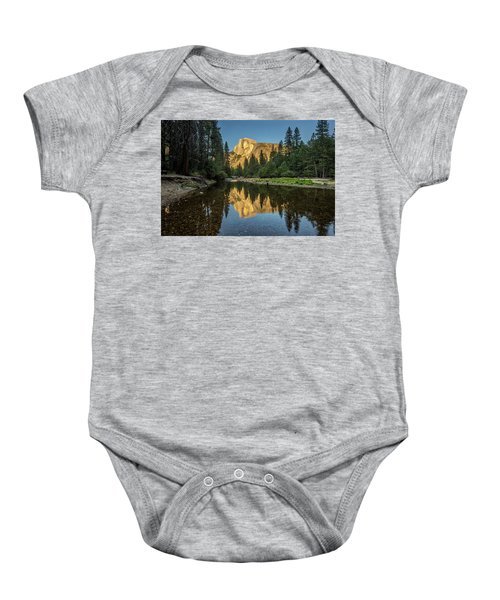Half Dome From  The Merced Baby Onesie by Peter Tellone