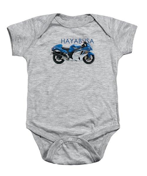 Hayabusa In Blue Baby Onesie by Mark Rogan