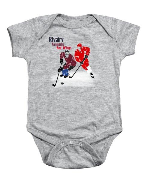 Hockey Rivalry Avalanche Red Wings Shirt Baby Onesie by Joe Hamilton