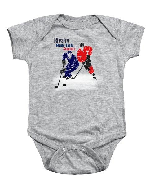 Hockey Rivalry Maple Leafs Senators Shirt Baby Onesie by Joe Hamilton