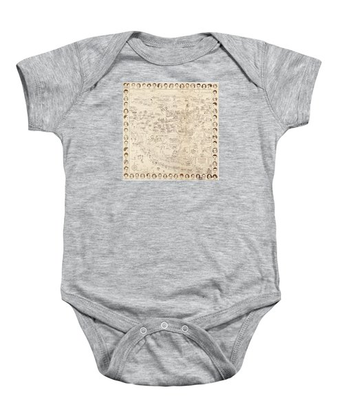 Hollywood Map To The Stars 1937 Baby Onesie by Don Boggs