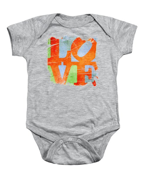 Iconic Love - Grunge Baby Onesie by Paulette B Wright