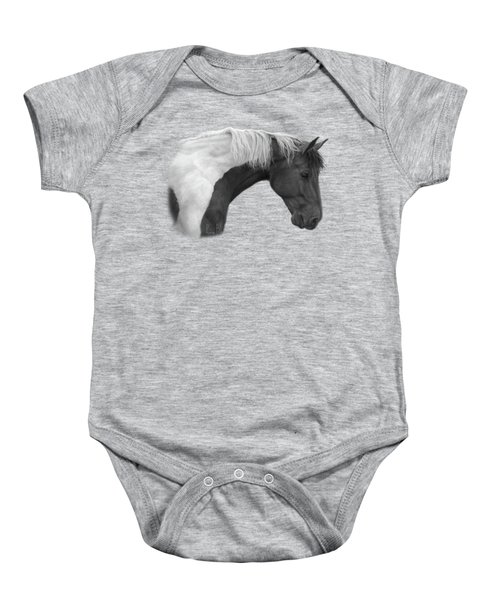 Intrigued - Black And White Baby Onesie by Lucie Bilodeau