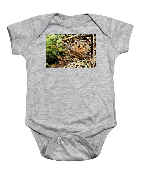It's A Baby Woodcock Baby Onesie by Asbed Iskedjian