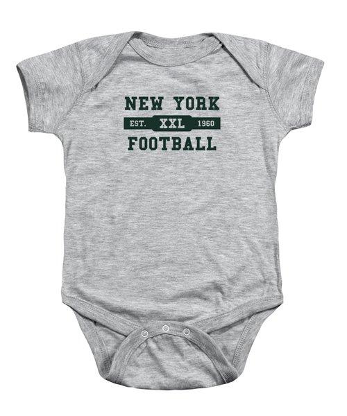 Jets Retro Shirt Baby Onesie by Joe Hamilton