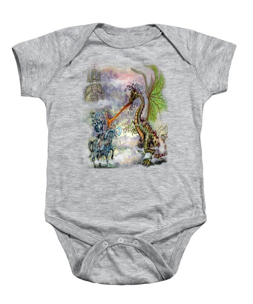 Knights N Dragons Baby Onesie by Kevin Middleton