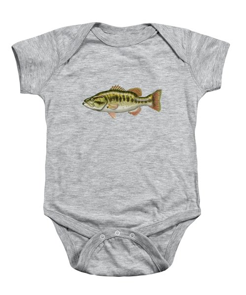 Largemouth Bass Baby Onesie by Serge Averbukh