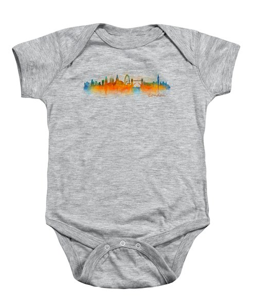 London City Skyline Hq V3 Baby Onesie by HQ Photo