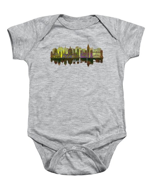London England Skyline In Golden Light Baby Onesie by John Groves