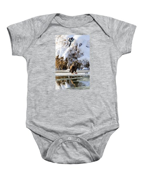 Lookout Above Baby Onesie by Mike Dawson
