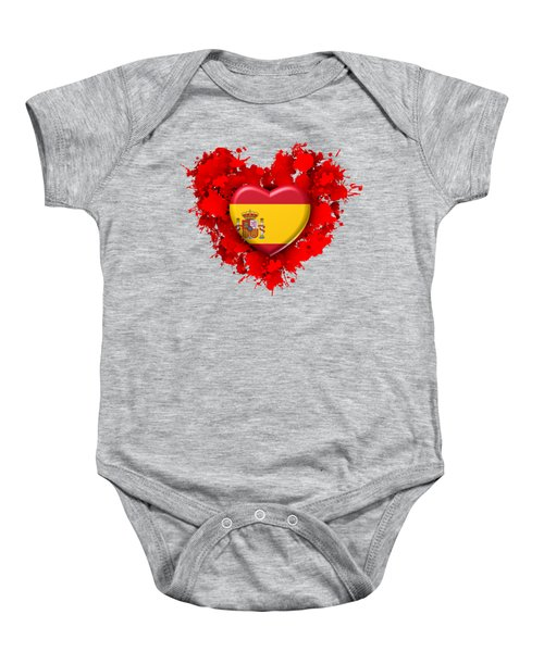 Love Spain 1 Baby Onesie by Alberto RuiZ