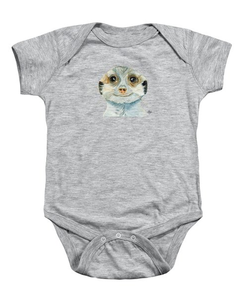 Meerkat Baby Onesie by Angeles M Pomata