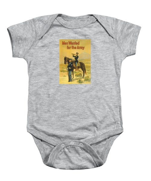 Men Wanted For The Army Baby Onesie by War Is Hell Store