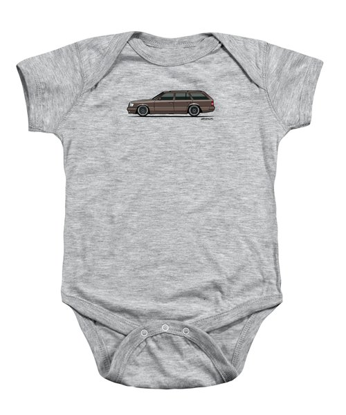 Mercedes Benz W124 E-class 300te Wagon - Anthracite Grey Baby Onesie by Monkey Crisis On Mars