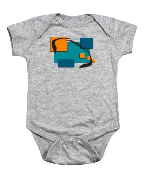 Miami Dolphins Abstract Shirt Baby Onesie by Joe Hamilton
