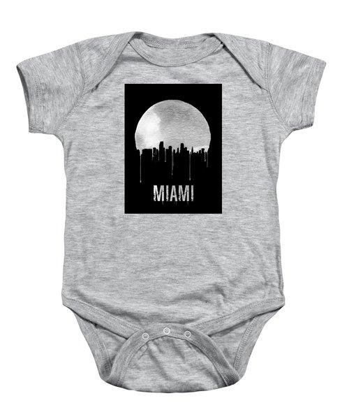 Miami Skyline Black Baby Onesie by Naxart Studio