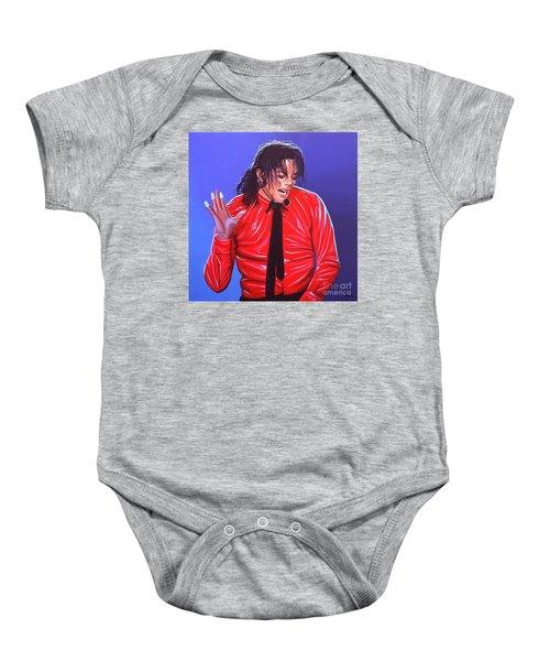 Michael Jackson 2 Baby Onesie by Paul Meijering