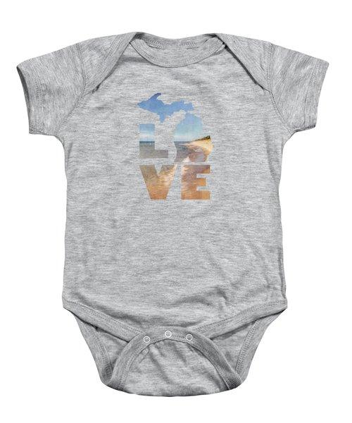 Michigan Love Baby Onesie by Emily Kay