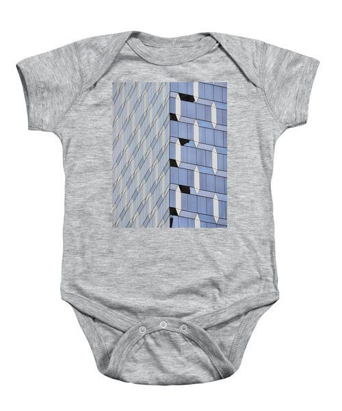 Midtown Architecture  Baby Onesie by Sandy Taylor