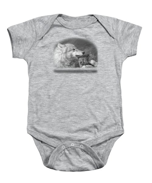 Mother's Love - Black And White Baby Onesie by Lucie Bilodeau