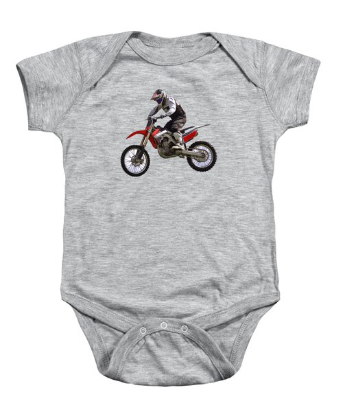 Motocross Baby Onesie by Scott Carruthers