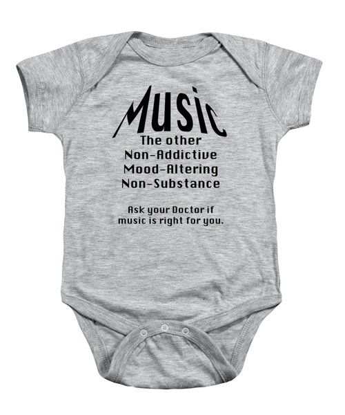 Music Is Right For You 5502.02 Baby Onesie by M K  Miller