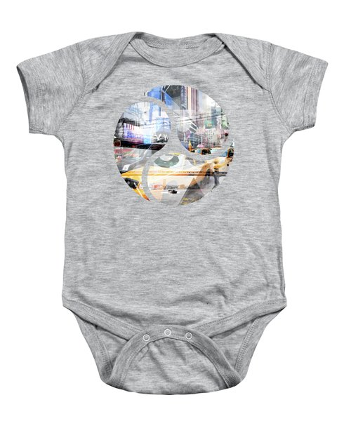 New York City Geometric Mix No. 9 Baby Onesie by Melanie Viola
