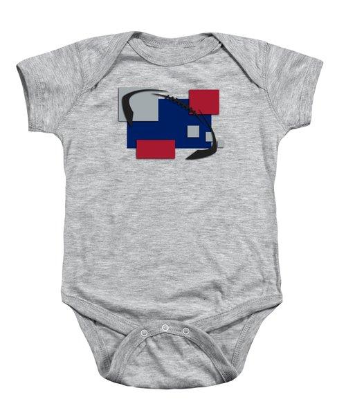 New York Giants Abstract Shirt Baby Onesie by Joe Hamilton