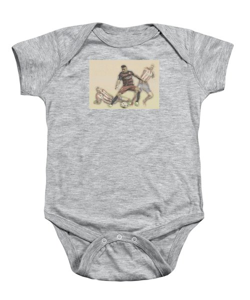 Neymar Fight For The Bal Baby Onesie by Don Kuing