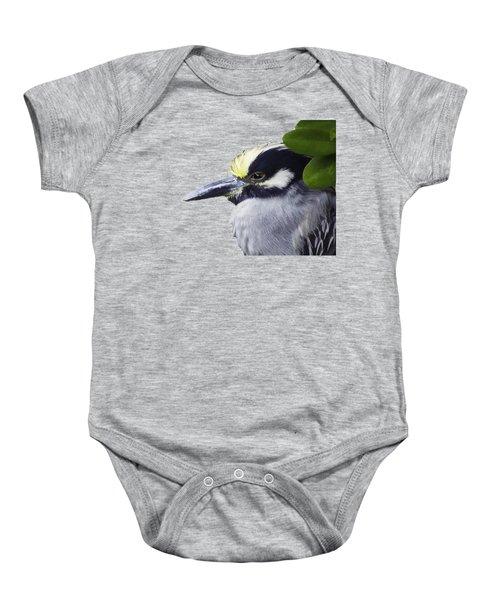 Night Heron Transparency Baby Onesie by Richard Goldman