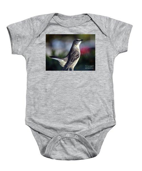 Northern Mockingbird Up Close Baby Onesie by William Tasker