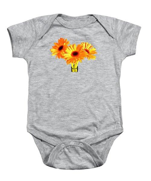 Orange Gerbera's Baby Onesie by Scott Carruthers