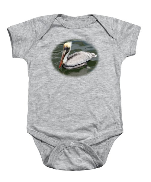 Pelican 3 Vignette Baby Onesie by Bob Slitzan