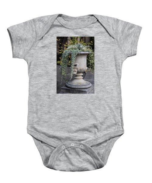 Penn State Flower Pot  Baby Onesie by John McGraw