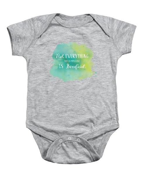 Permissible Baby Onesie by Nancy Ingersoll