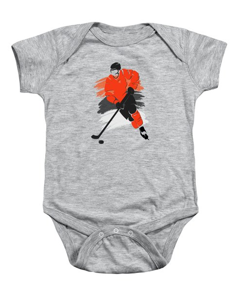 Philadelphia Flyers Player Shirt Baby Onesie by Joe Hamilton