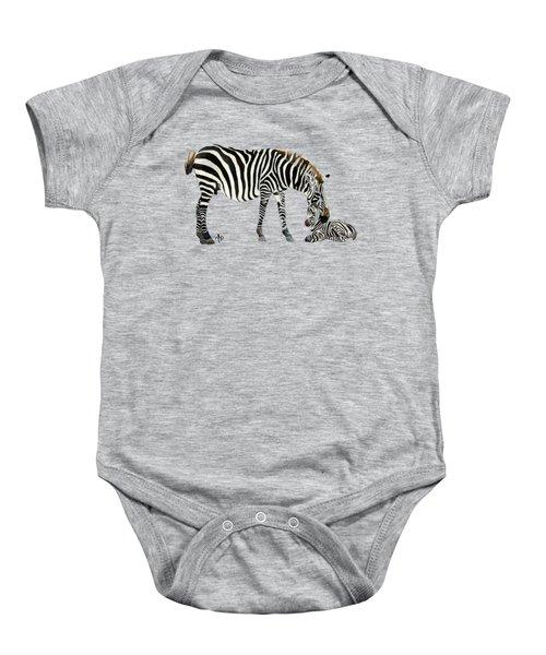 Plains Zebras Baby Onesie by Angeles M Pomata