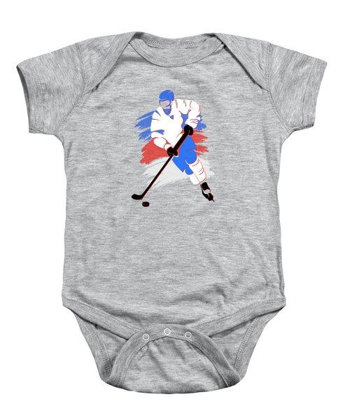 Quebec Nordiques Player Shirt Baby Onesie by Joe Hamilton
