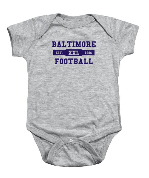 Ravens Retro Shirt Baby Onesie by Joe Hamilton