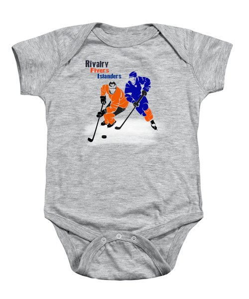 Rivalry Flyers Islanders Shirt Baby Onesie by Joe Hamilton