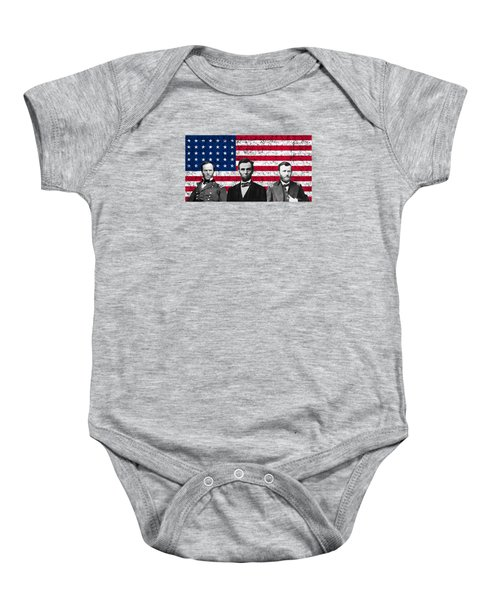 Sherman - Lincoln - Grant Baby Onesie by War Is Hell Store