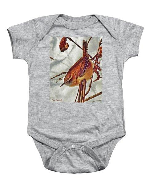 Slim Pickens, Carolina Wren Baby Onesie by Ken Everett