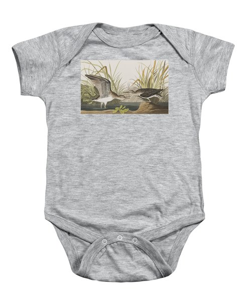 Solitary Sandpiper Baby Onesie by John James Audubon