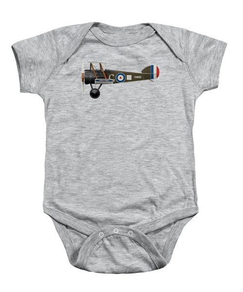 Sopwith Camel - B6344 - Side Profile View Baby Onesie by Ed Jackson