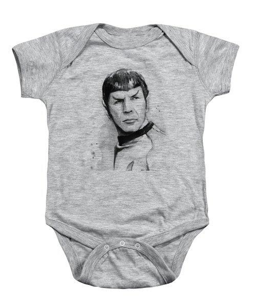 Spock Portrait Baby Onesie by Olga Shvartsur