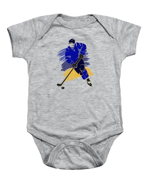 St Louis Blues Player Shirt Baby Onesie by Joe Hamilton